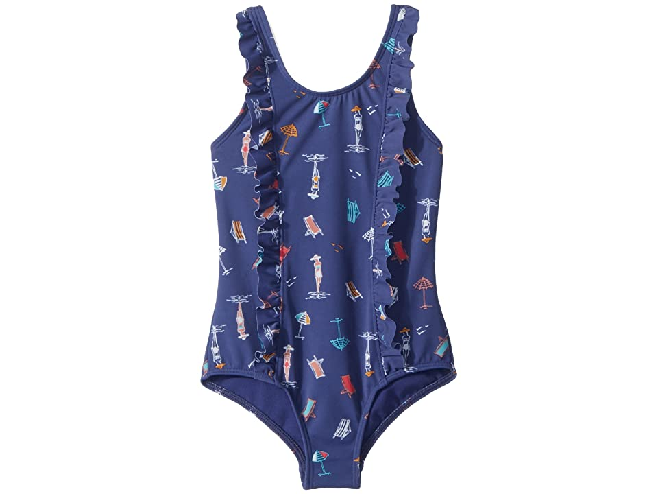 Roxy Kids Tropicool Sunshine One-Piece (Toddler/Little Kids) (Deep Cobalt/On the Beach) Girl