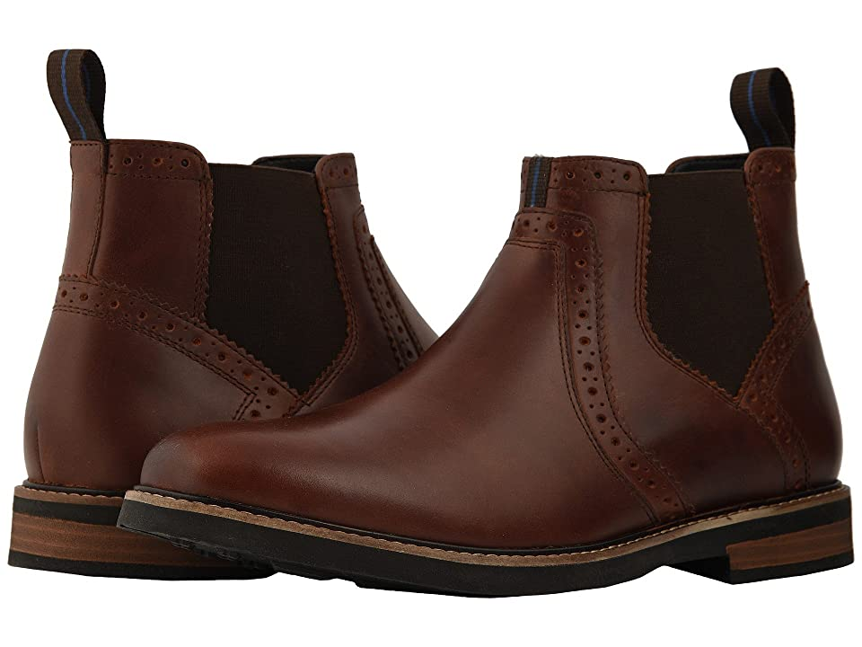 Nunn Bush Otis Plain Toe Chelsea Boot with KORE Walking Comfort Technology (Rust) Men