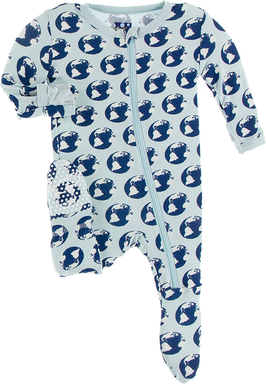 Ranking TOP2 KicKee Pants Print with Jacksonville Mall Zipper Footie