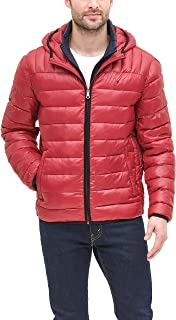 Men's Insulated Packable Jacket With Contrast Bib and Hood