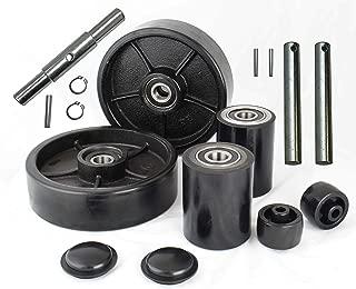 Pallet Jack/Truck Full Set Black with Back Axle, Steering Wheels 7