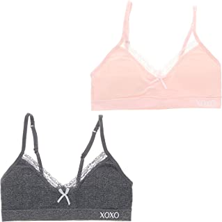 XOXO Girl Super Soft Training Bra Set with Removable Pads (2 Bras)