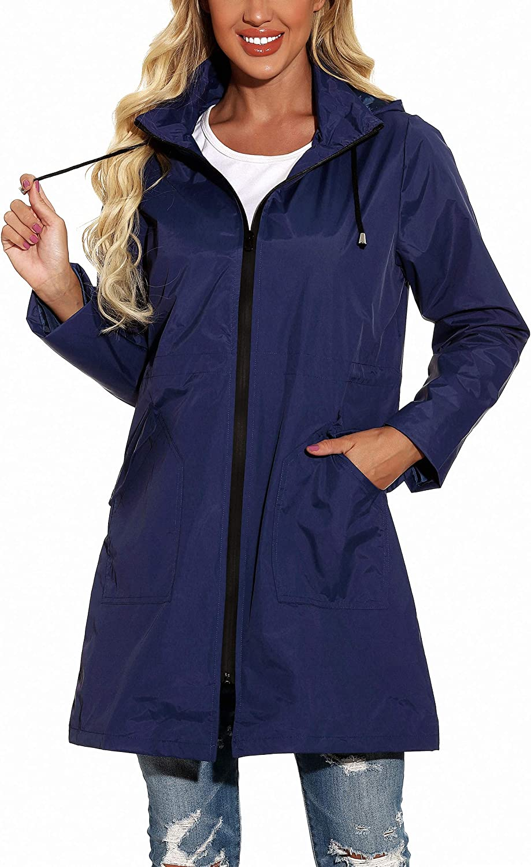 GUANYY Rain Jacket Tulsa Mall Women Waterproof Raincoat Active Hooded Outdo Max 71% OFF