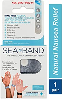 Sea-Band Anti-Nausea Acupressure Wristband for Motion or Morning Sickness, Adult, Pack of 2 (Colors May Vary)