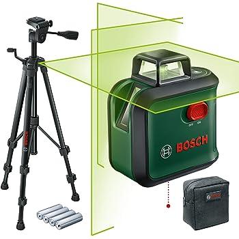 Bosch Home and Garden AdvancedLevel 360 Nivel láser (trípode, alcance: hasta 24m, con autonivelación: hasta ± 4°, color verde, 4x pilas AA, en caja)