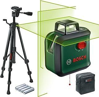 Bosch korslinjelaser AdvancedLevel 360, sats (horisontallinje på 360°, två vertikallinjer och lodpunkt nedtill, grön lase...
