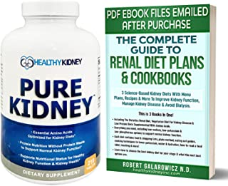 Sponsored Ad - Pure Kidney Powerful Kidney Health Supplement and Renal Disease Diet Cookbook For Rejuvenating, Kidney Clea...