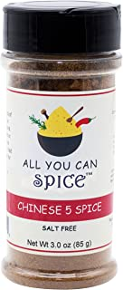 Salt Free Chinese Five Spice 3 oz, All Natural Ingredients, by All You Can Spice