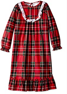 Image of A Holiday Favorite: Flannel Red Plaid Christmas Nightgown for Girls and Toddlers