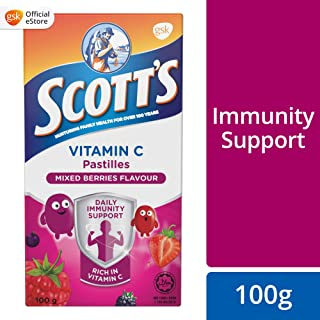 Scott's Vitamin C Pastilles, Children Supplement, Mixed Berries flavour, 100g