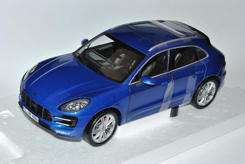 Minichamps Porsche Macan Turbo Saphir Blau Ab 2014 1 18 Modell Auto