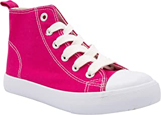 ZOOGS Fashion High-Top Canvas Sneakers Girls Boys Youth, Toddlers & Kids