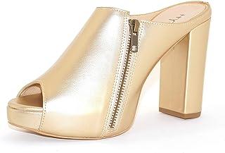 Hype Women's Heeled Side Zip Fashion Slip On ZD9393 (Felicia)