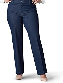 Lee womens Plus Size Flex Motion Regular Fit Trouser Pant Pants