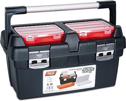 388 x 290 x 61 mm Tayg bo/îte de rangement Box Basic 02 jusqu/à 26 compartiments, noir//bleu, 023552