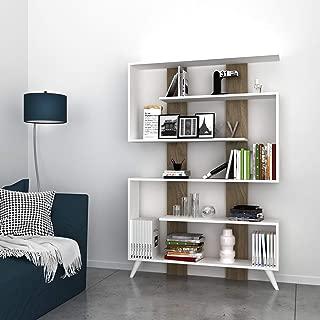 60 x 20 x 156.6 cm melamina White Homemania Libreria Tablero PVC