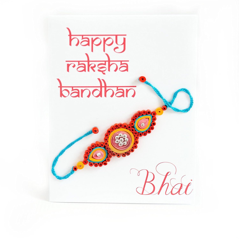 Amazon Com Rakhi Card Raksha Bandhan Card Rakshabandhan Card For Bhai Card For Brother Card From Sister Happy Raksha Bandhan Card For Rakhi Handmade Products
