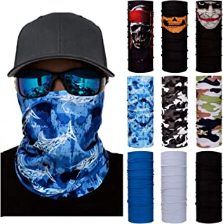Neck Gaiter Multifunctional Headwear Face Mask Headband Tube UV Face Mask Bandanas Fan Masks