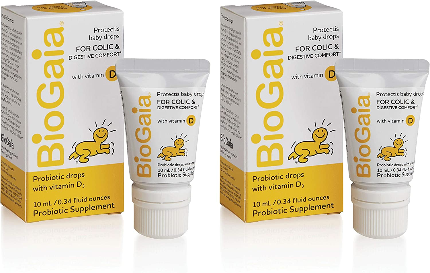 Limited price sale BioGaia Probiotics Drops with Vitamin Infants Newbo Baby for Max 79% OFF D