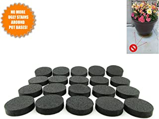 LIFT MY POT Flower Pot Feet, Invisible Flower Pot Risers, Rubber Risers for Plant Pots - 20 or 8 Pc (20)