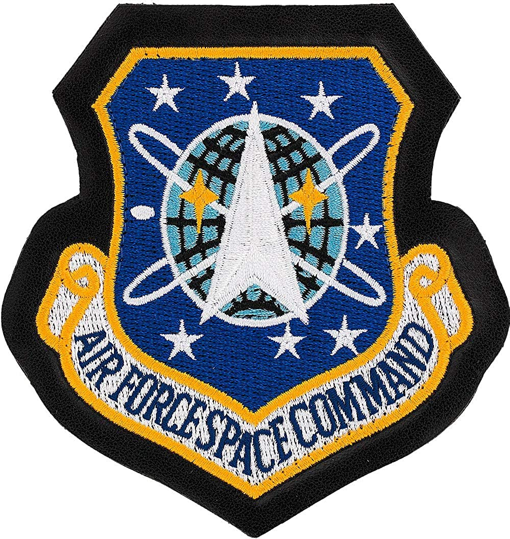 Air Force Space Command Patch Simulated Color Cheap super special price Leather Full Indianapolis Mall wit