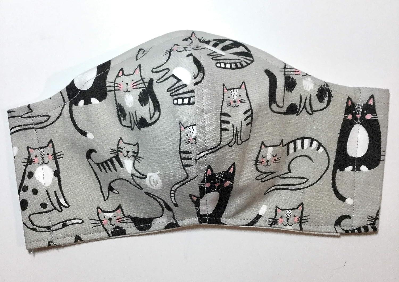 Gray free shipping Max 50% OFF Black Kitty Cat Face Mask tabby paws tri yarn milk tuxedo