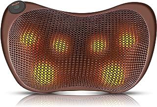 Shiatsu Back Neck Massager | Massage Pillow with Heat for Shoulders, Lower Back, Legs, Foot | Deep Massage Nodes