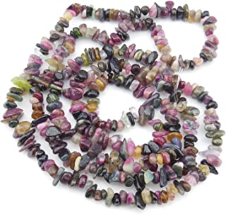 5-8mm Natural Tourmaline Chips Chip Beads Loose Gemstone Beads for Jewelry Making Strand 35 Inch