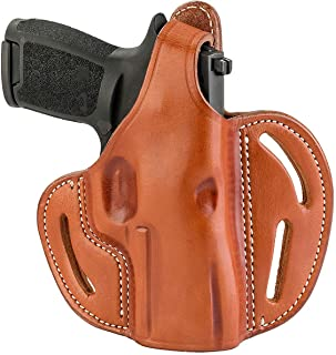 1791 GUNLEATHER Sig P320c Thumb Break Holster - Right Handed OWB Leather Gun Holster - Fits Sig M11-A1, P229c, P320c, P320 Carry, P320 X-Carry, P250 Springfield XDMc, Beretta Cougar 8000F