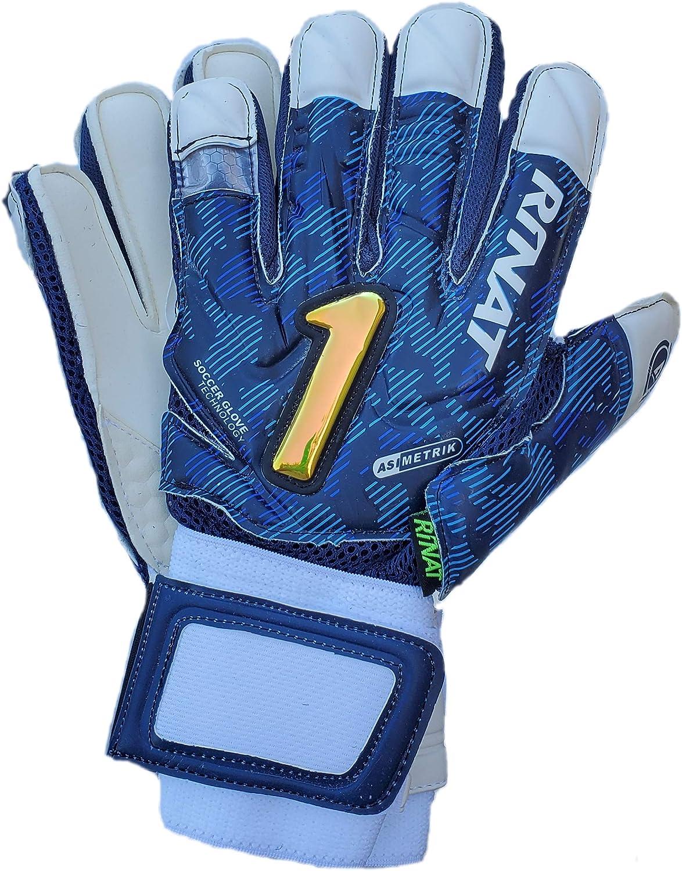 Albuquerque Mall Rinat Goalkeeper Gloves Special Campaign Asimetrik Hunter Blue ad semi Spines
