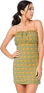 Finders Keepers Women's Sorrento Mini Dress, Lemon Check