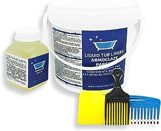 Armoglaze - エナメルエポキシシャワートレイ修理キット - 非常に丈夫/無臭 - 色:ホワイト - 小型シャワートレイ(2 x 2 & 3 x 3) (大きなシャワートレイ(6 x 3))