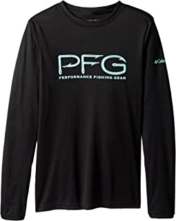 Columbia Kids - PFG Hooks Long Sleeve Shirt (Little Kids/Big Kids)