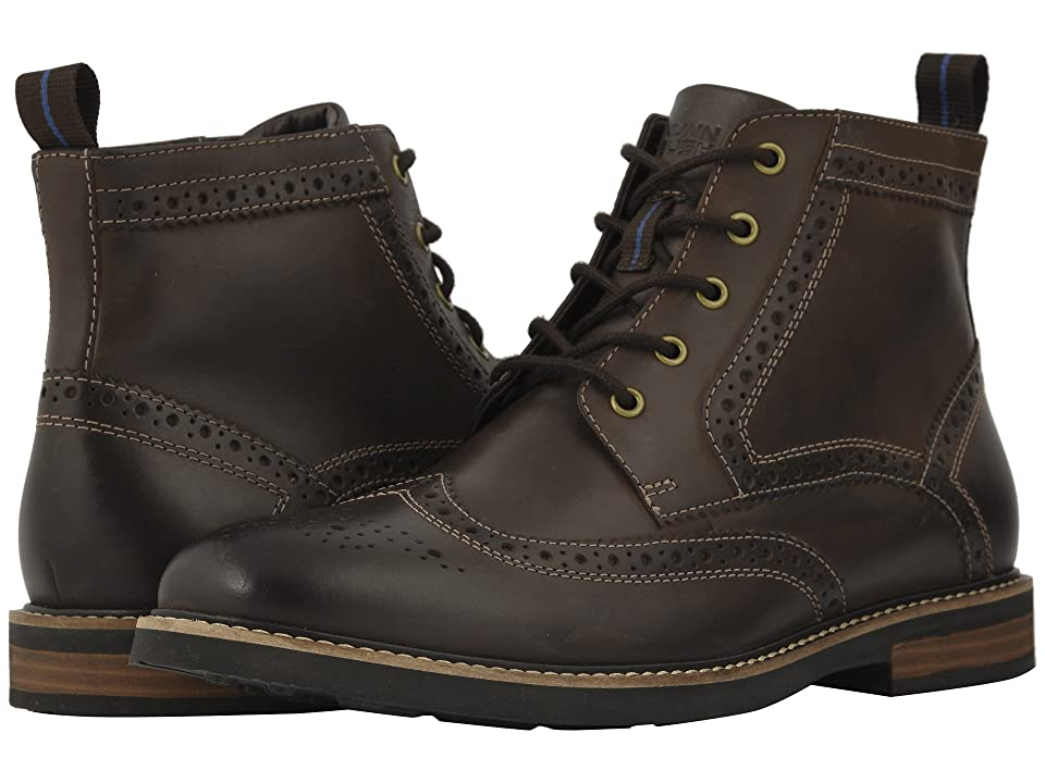 Nunn Bush Odell Wingtip Boot with KORE Walking Comfort Technology (Brown CH) Men