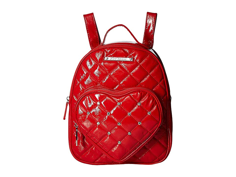 Betsey Johnson Heart Pocket Backpack (Red) Backpack Bags