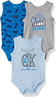 Calvin Klein Baby Boys 3 Pack Bodysuits