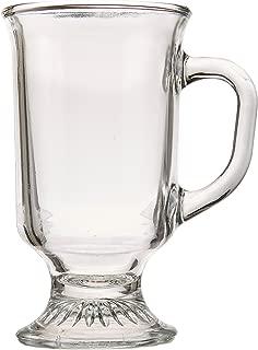 Anchor Hocking Irish Coffee Glass Coffee Mugs, 8 oz (Set of 12)