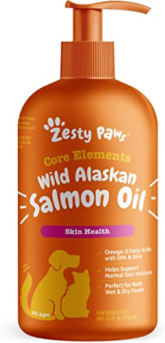 Pure Wild Alaskan Salmon Oil for Dogs & Cats - Supports Joint Function, Immune & Heart Health - Omega 3 Liquid Food S...