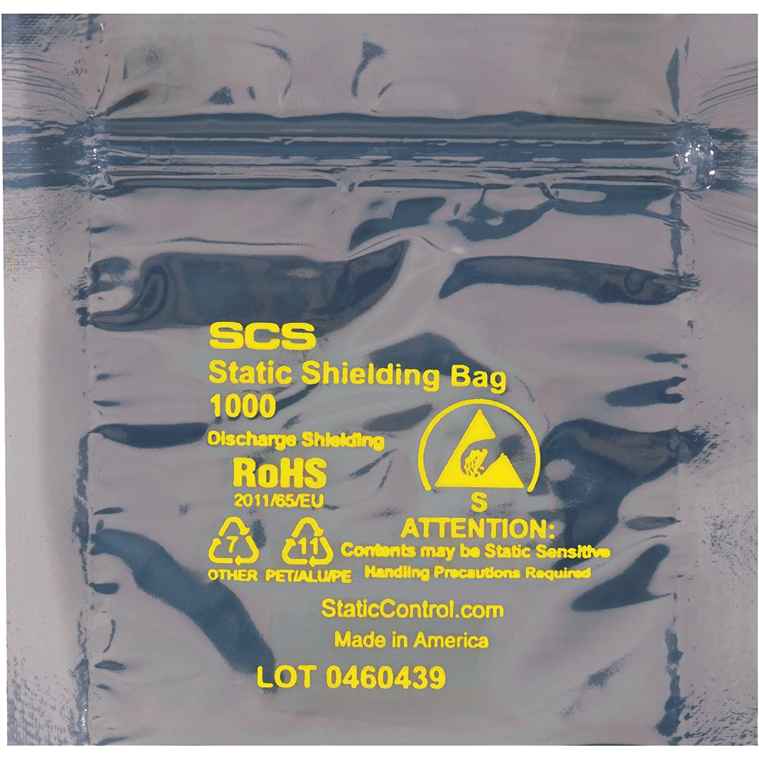 Mail order cheap Reclosable Static Shielding Bags 6 Case Max 82% OFF x 100 Transparent 6