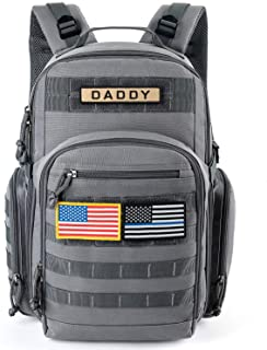 MIRACOL Diaper Bag for Dad, Military Baby Bag Backpack for Men Multifunction Travel Backpack, Insulated Bottle Pouch, Mili...