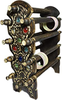 DECORVAIZ Hand Carved Wooden Bangle Stand - Jewelry Accessories