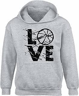 Unisex Basketball Fans Love Basketball Hoodie Sweatshirt for Basketball Support