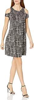 Sharagano Women's Cold Shoulder Textured Dress