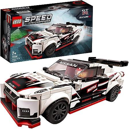 LEGO SpeedChampions NissanGT-RNISMO, Giocattolo Ispirato alle Corsecon Minifigura del Pilota, Set da Costruzione di Auto da Corsa, 76896