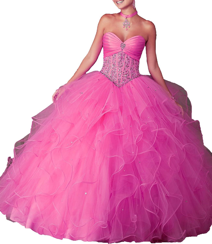 Yang New Sweetheart Girls Ball Gowns Floor Length Women Quinceanera Dress