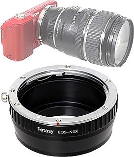 Fotasy Manual Canon EF Lens to Sony E-Mount Adapter, EF to EMount, EFs Lense to E Mount, fits Sony Alpha NEX-5T NEX-6 NEX-...
