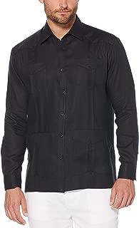 Men's Long Sleeve 100% Linen Guayabera