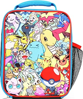 Pokemon All Over Print Multi Characters Insulated Lunch Bag for Kids with  Mesh Pocket 20b949044c1f8