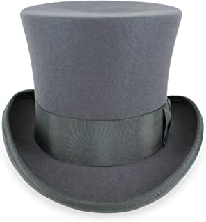 Belfry Top Hat Theater Quality 100% Wool in Black Grey or Pearl