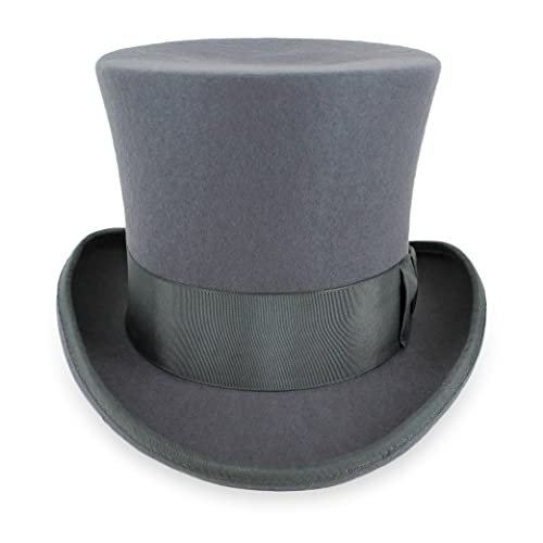 6a5434e48b1 Belfry Top Hat Theater Quality 100% Wool in Black Grey or Pearl